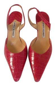 Manolo Blahnik Manolo 40 Gucci Manolo Alligator Chanel 40 Prada 40 Pink Pumps