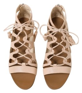 Zara Flats Summer Gladiator Nude Sandals