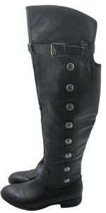 Jasmin Over The Knee Fun Comfy Black Boots