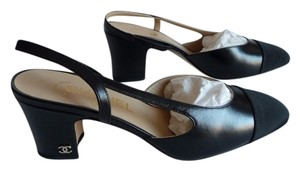 Chanel Slingback Black Pumps