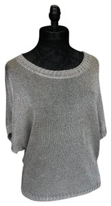 Vince Sleeve Top Silver Metallic