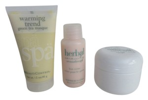 Other New Spa Travel Sizes Warming Green Tea Mask, Foot Cream And Eye Pads