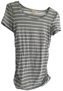 Michael Kors T Shirt Grey/White Stripe