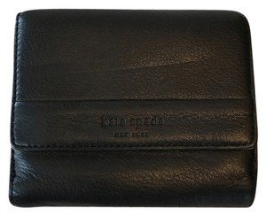 Kate Spade Black Leather Snap Wallet
