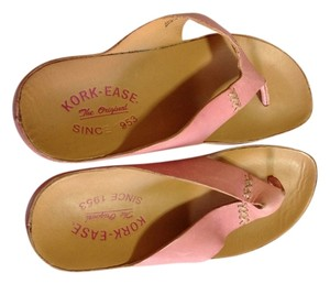 Kork-Ease Pink leather Sandals