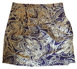 Ann Taylor LOFT Mini Skirt Purple and White