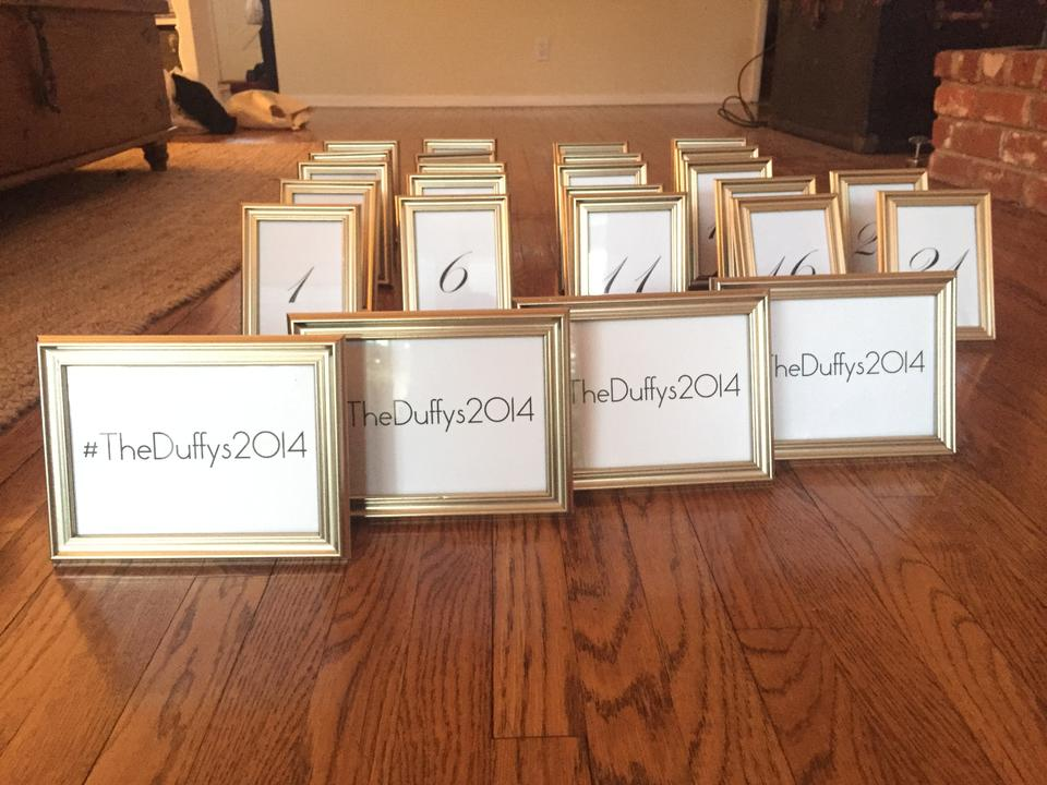 Gold 22 4x6 Frames with Table Numbers & 4 5x7 Frames Reception ...