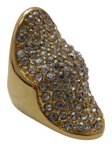 Other Fully Ring YG Plated Stainless Steel w Austrian Crystals Size 7 w Free Shipping