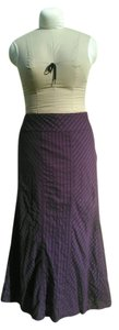 Talbots Boho Peasant Romantic Maxi Skirt Eggplant Purple