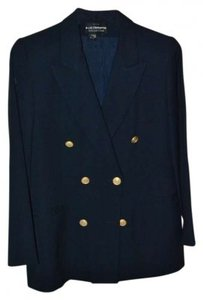 Liz Claiborne Classic Navy Double Breasted Jacket with Gold Buttons