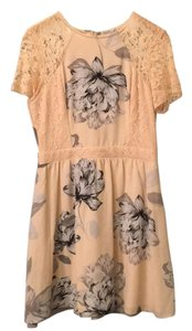 ASOS short dress floral Pink Lace Sleeves on Tradesy