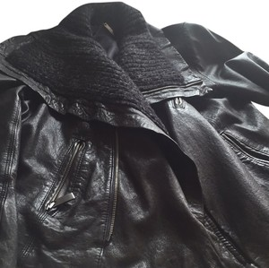 Lina Dark grey Leather Jacket