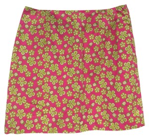 Lilly Pulitzer Mini Skirt Pink, Green