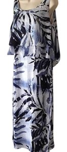 Blue Multi Maxi Dress by Chico's Maxi Summer