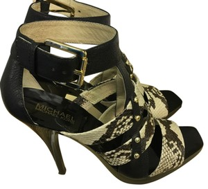 MICHAEL Michael Kors Black with snakeskin Platforms