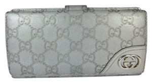 Gucci Guccissma - Silver, Leather, Long Folding Wallet