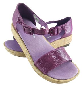Antelope Violet or Turquoise Leather Sandals