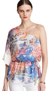 Rachel Roy Silk One Top Multi Color - Size Large (10-12