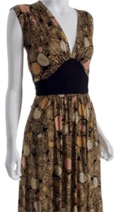 Diane von Furstenberg short dress Black/ tans on Tradesy