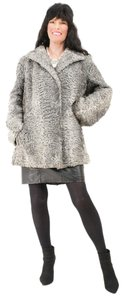Saga Furs Fur Coat Persian Fur Coat Gray Jacket