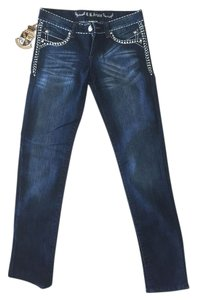 B.B. Jeans Fashion Embellished Relaxed Fit Jeans-Dark Rinse