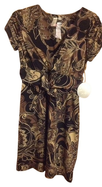 Preload https://item3.tradesy.com/images/emma-and-michele-brown-floral-print-knee-length-workoffice-dress-size-8-m-1498077-0-0.jpg?width=400&height=650