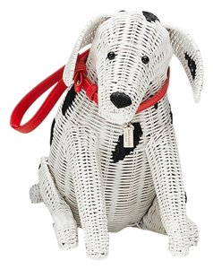 Kate Spade New York Dalmation Cute Dog Wristlet in White/black