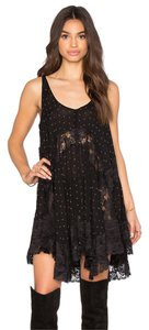Free People short dress Black She Swings Slip on Tradesy
