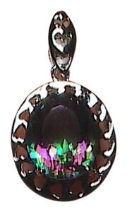 unknown 5.0 cts Sterling Silver Mystic Topaz Pendant