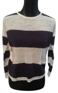 Ann Taylor LOFT Off Striped Sweater