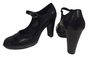 Tod's Black Leather w/ Patent Trim Platforms