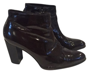 Jil Sander Patent Brown Leather Boots