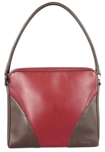 Prada Retro Cubist Deco Chevron Minimalist Tote in Red