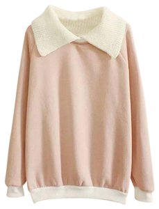 Other Fall Peter Pan Collar Knit Color-blocking Sweater