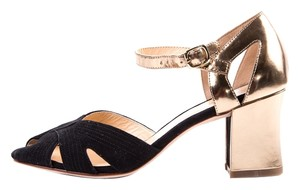 Cole Haan Black & Gold Sandals
