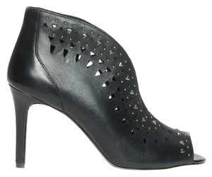 Vince Camuto Studded Cut-out Bold Silver Bootie Black Pumps