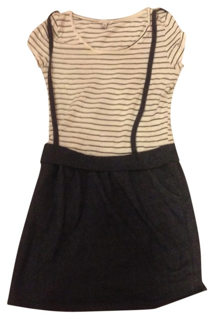 Preload https://item4.tradesy.com/images/forever-21-dress-white-with-black-stripes-with-blue-skirt-1498503-0-0.jpg?width=400&height=650