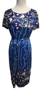 Emilio Pucci short dress Multi-Color Blue/white/black/purple Womens Blue on Tradesy