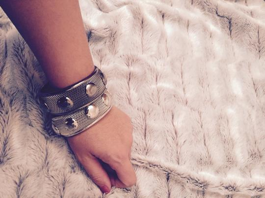 Guess Silver and Hematite-Tone Bangles by Guess