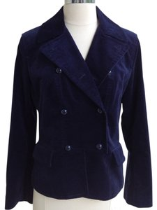Talbots Black Alpaca Wool Blend dark blue Jacket