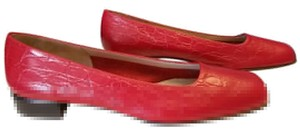 Salvatore Ferragamo Leather Classic Red Pumps