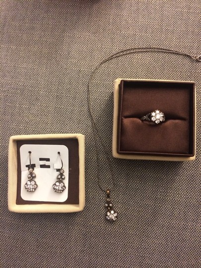 Other Crystal Cluster Ring, Necklace And Earrings