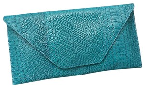 Other Snake Skin Print. Blue Turquoise Clutch
