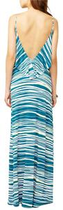 Blue Maxi Dress by Tart Maxi Striped Strappy Ruffle