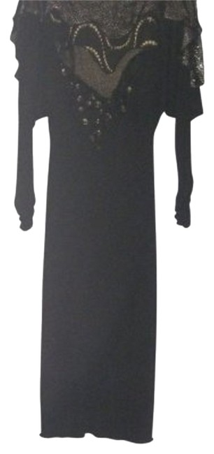 Preload https://item2.tradesy.com/images/margi-kent-black-with-gold-trim-vintage-couture-long-cocktail-dress-size-4-s-14986-0-1.jpg?width=400&height=650