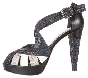 Stuart Weitzman Never Wor Braided Elegant Black, Tan, White Platforms