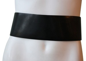 Tibi Patent Leather Wide Belt