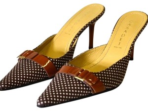 Casadei Brown and White Mules