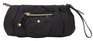 Tod's Nylon Ruched Wristlet Black Clutch