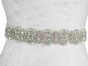 High Quality Bridal Sash Color White Pearls And Crystals